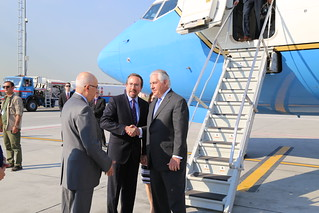 Secretary Tillerson Arrives at Ataturk Airport in Instanbul | by U.S. Department of State
