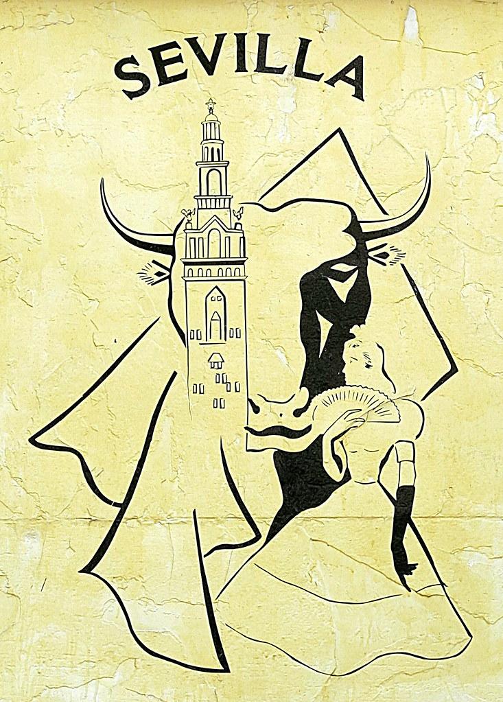 A Mural Sign For The Sevilla Restaurant Bar Charles Str Flickr