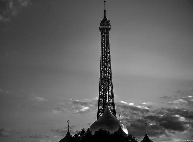 Otra forma de ver la Torre Eiffel.