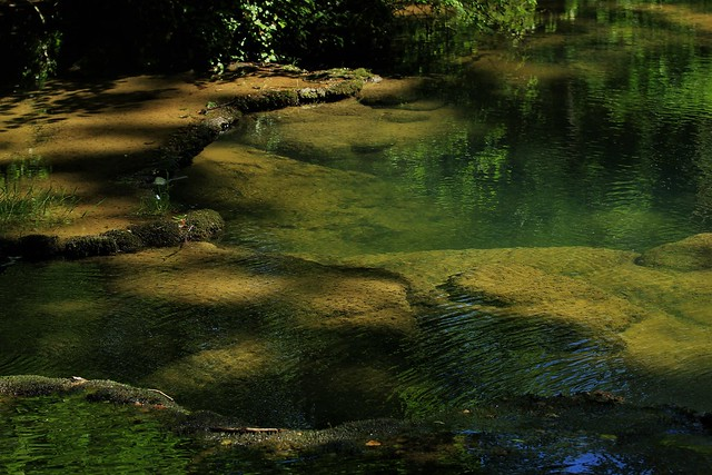 les bassins de la cascade des Tufs