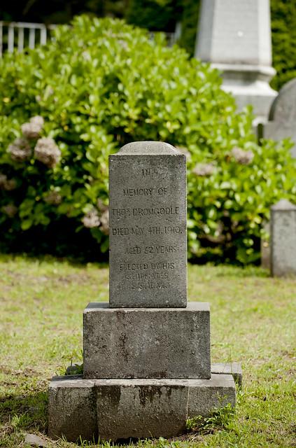 函館外国人墓地 25 Thomas Dromgoole 1848-1910
