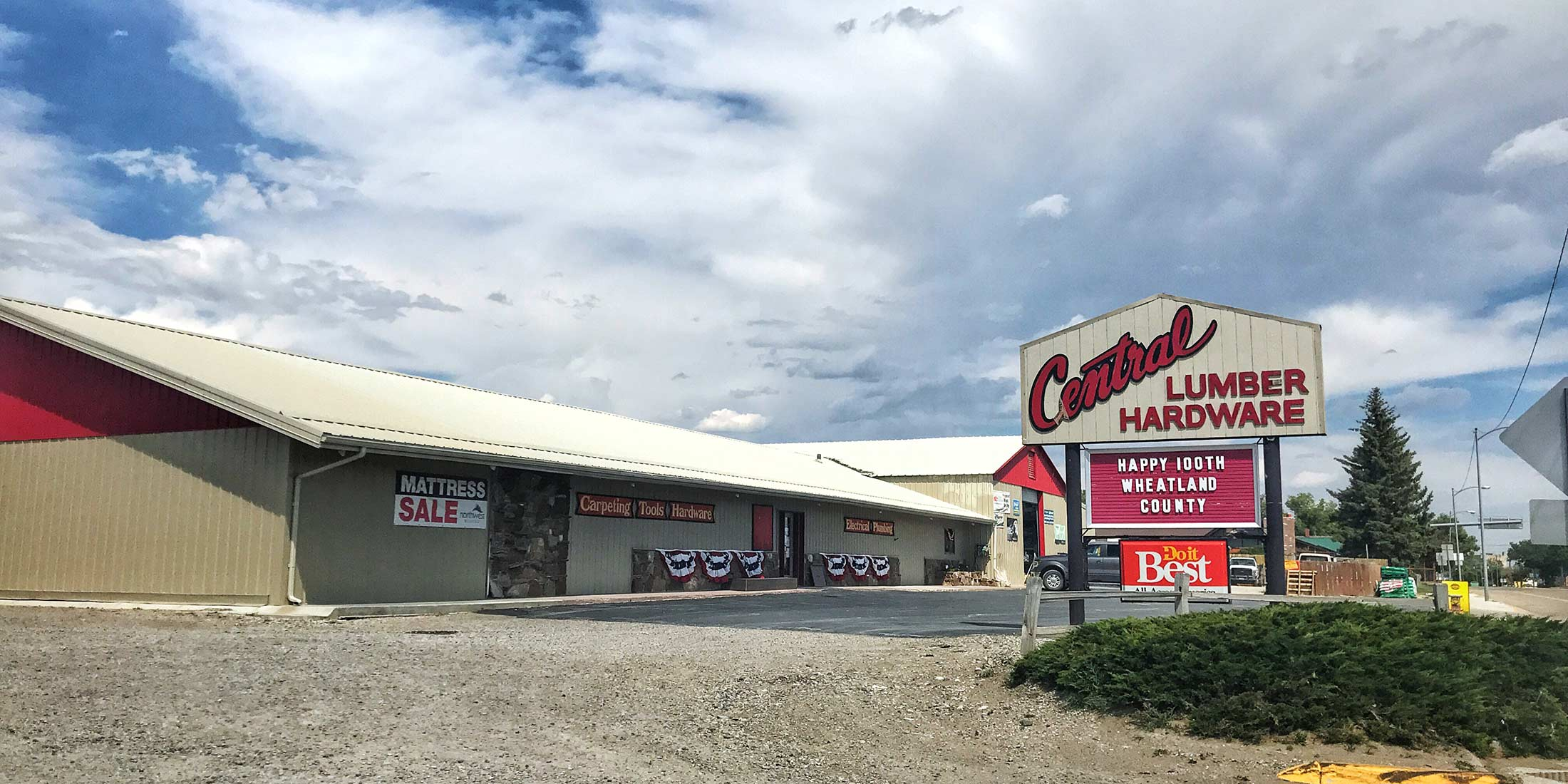 Lumber and hardware store located in Harlowton, Montana on Highway 12 in wheatland County.