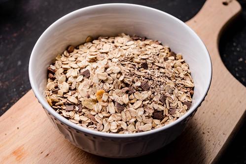 Oatmeal on the wooden background | by wuestenigel