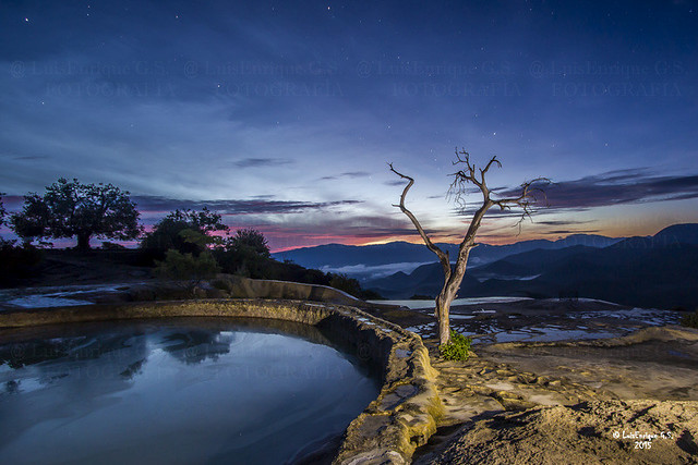 Hoy Cumplo una Vuelta mas al Sol - Amanecer en Hierve el Agua - Oaxaca - México