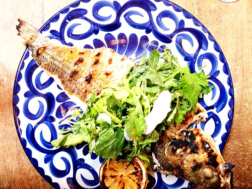 Striped Sea Bass with Salad   by eamadowms