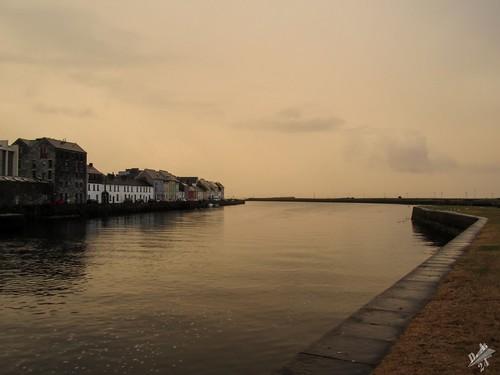 tramonto sunset galway corrib river fiume irlanda ireland acqua water eire