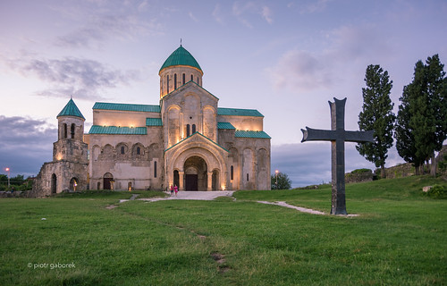 bagrati cathedral kutaisi georgia caucasus city churcg christian cross evening twilight sunset light architecture building travel trip tourism pietkagab photography pentax piotrgaborek pentaxk5ii europe european georgian