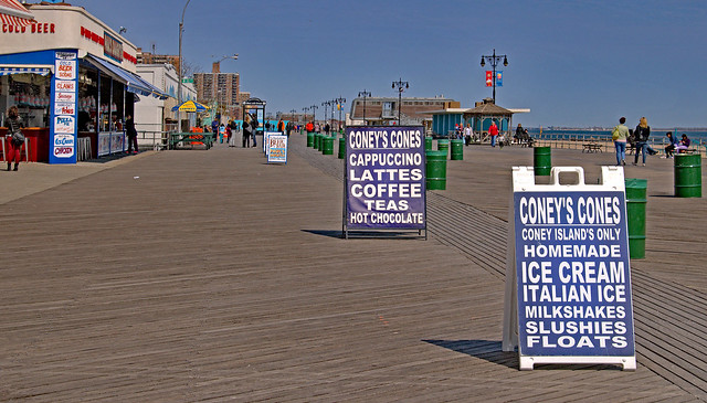 Coney Island Boardwalk.