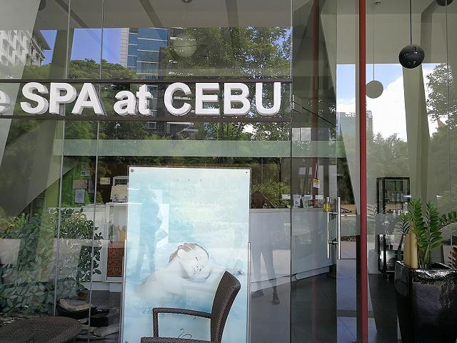 <p>アヤラモールのSPA at Cebu入り口</p>