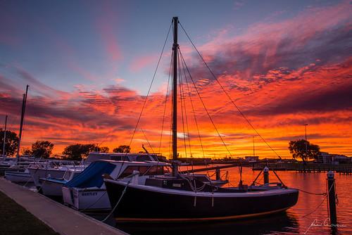 mandurah marystlagoon sunrise wa westaustralia boat marina cloud