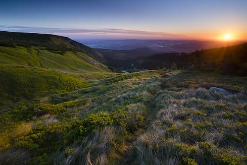 karkonosze sunrise landscape mountains