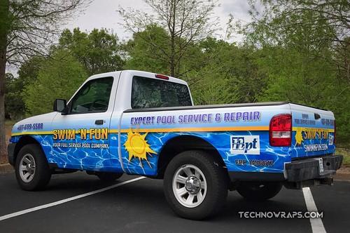 Truck wrap by TechnoSigns in Orlando, Florida