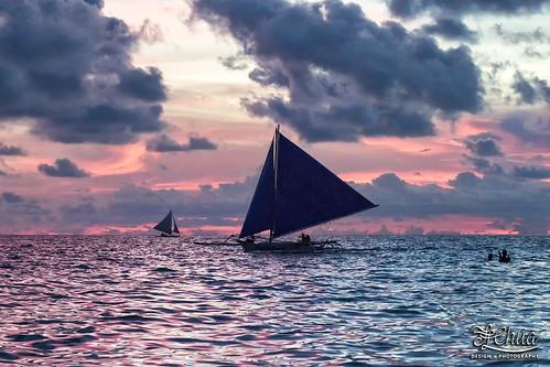 sunset boracay seaside