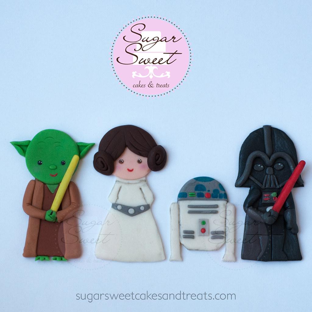 Star Wars Cake Decorations A Custom Set Of Star Wars Theme