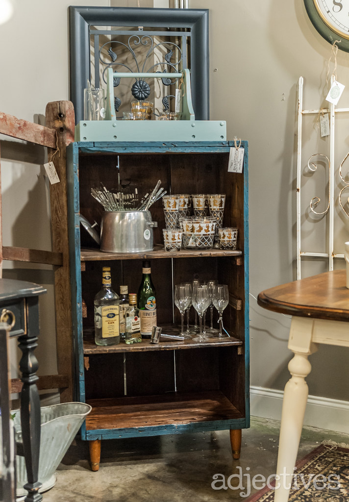Vintage bookshelf by All Things Vintage at Adjectives Altamonte