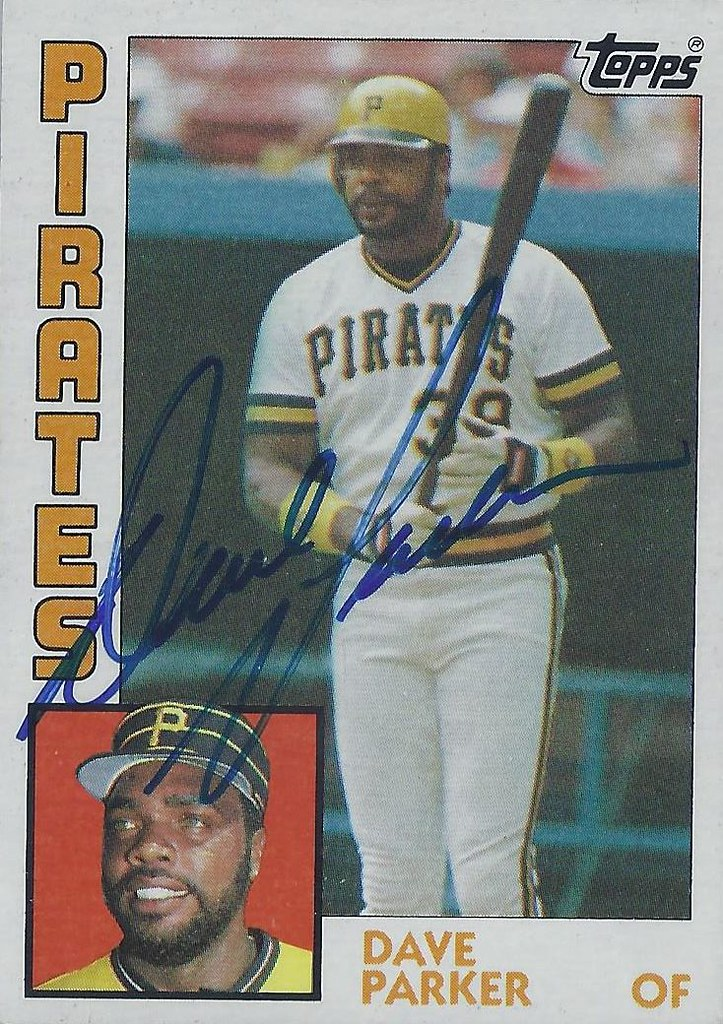 1984 Topps Dave Parker 775 Outfielder Autographed B