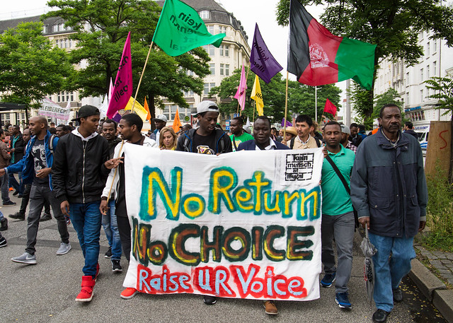 Demonstration Hamburg Refugee Rights - No G20 - 24.06.2017 Around 2.000 refugees and supporters took to the streets of Hamburg in advance of the G20 Summit.