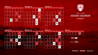 Olympiacos-Basketball-EuroLeague-Calendar-17-18 | by Olympiacos B.C.