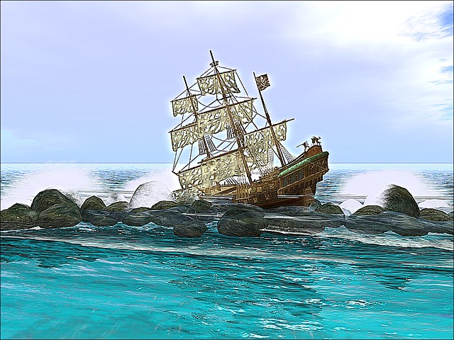 Serenity's Heaven - Shipwrecked On Coastal Rocks
