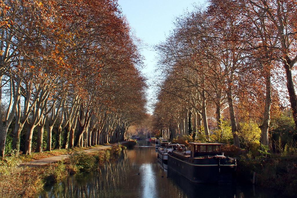 Canal du Midi au niveau de Ramonville, France