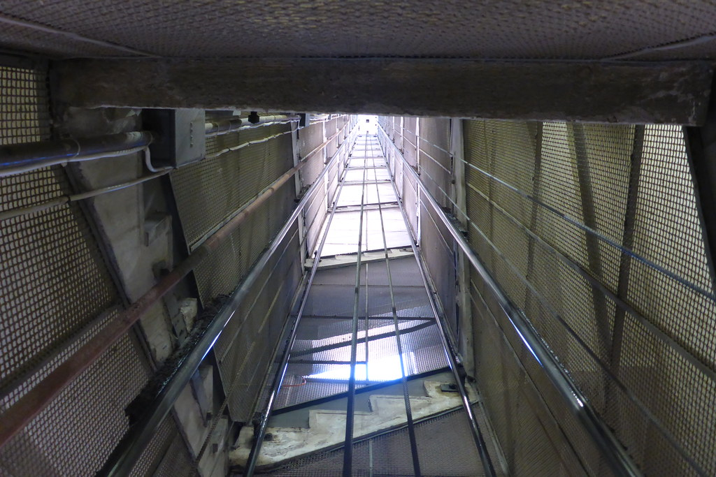 KONE elevator shaft in a silo | this was awesome