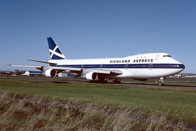 G-HIHO Boeing B747-123 EGPK 1987
