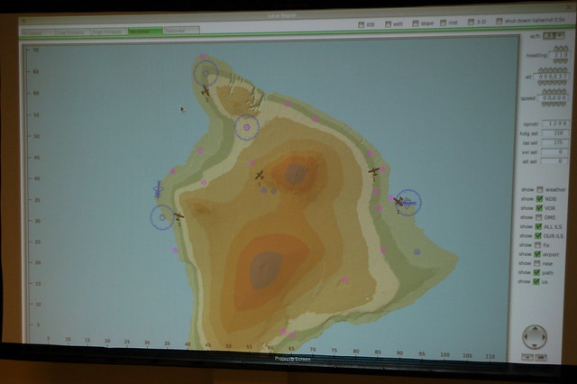 Mission Base console shows realtime location of search aircraft