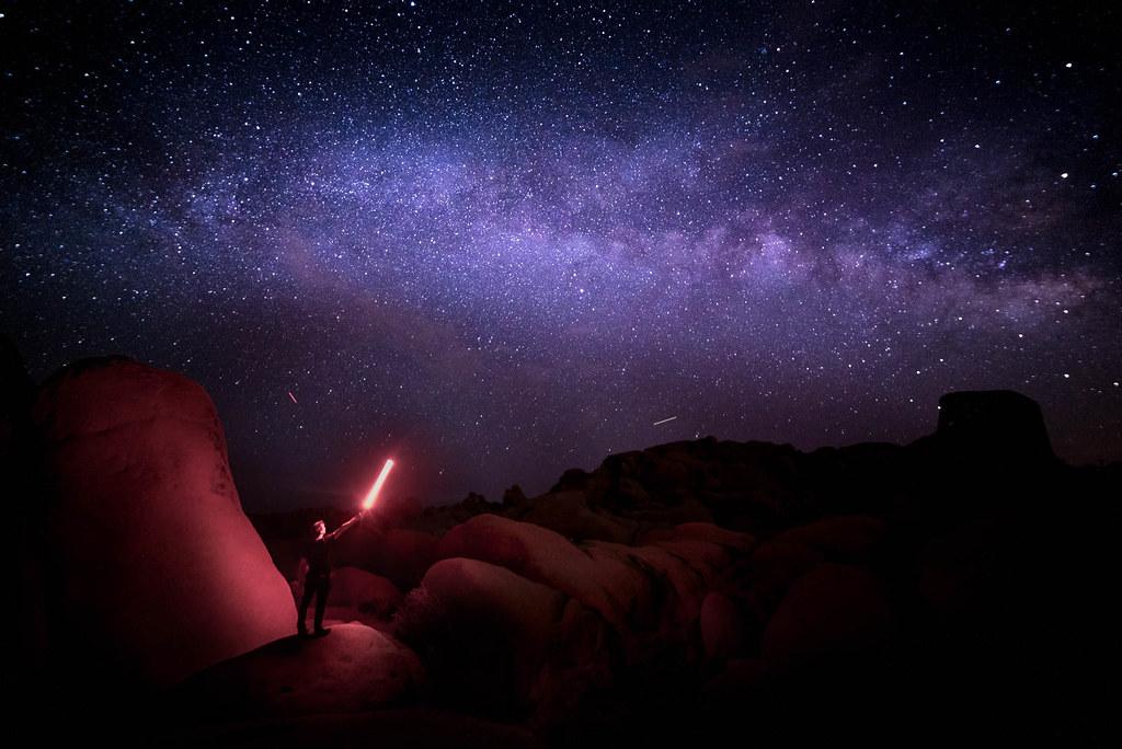 Milky Way Star Wars | We shot this Jedi moment in Joshua Tre… | Flickr