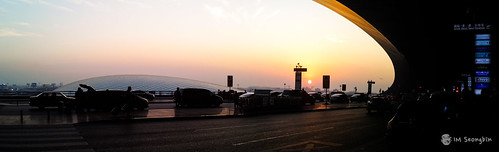airport beijing beijingcapitalinternationalairport china panorama sunset 공항 북경 서우두국제공항 석양 중국 파노라마 베이징 beijingshi cn