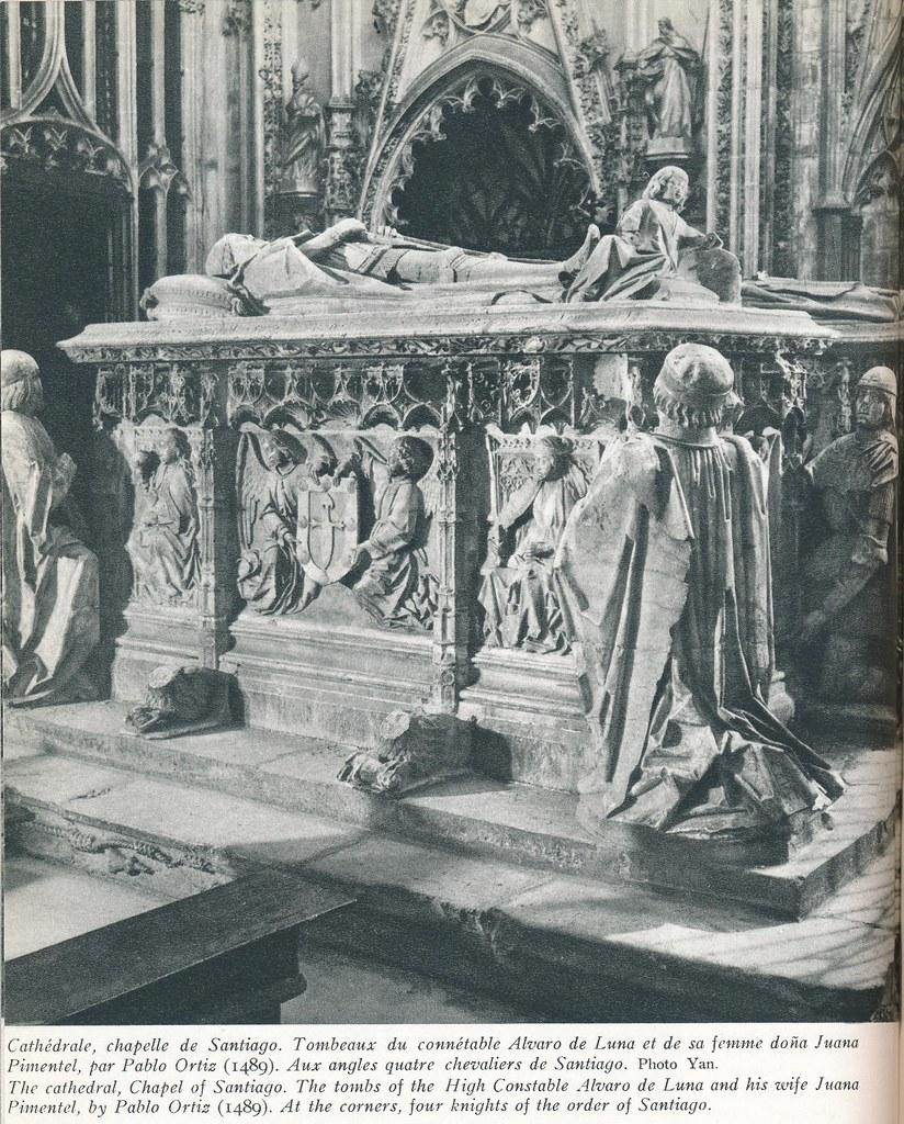 """Sepulcro de Álvaro de Luna. Libro de Víctor Crastre. Foto de Jean Dieuzaide  """"Yan"""""""