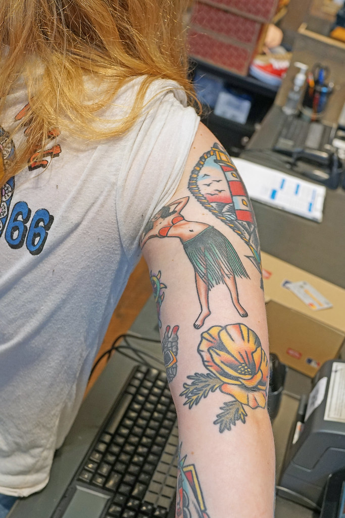 65c93c330ea8d Tattoo - Hula Dancer + more | silvrmn | Flickr