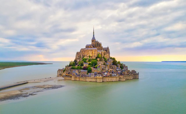 Mont St Michel Near Sunset