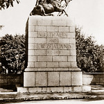 """25 February 1942 - """"No. 8 - 137 - Port-Said - Australian & New Zealand soldiers war memorial monument"""", Egypt - real photo post card (printed circa 1935)"""