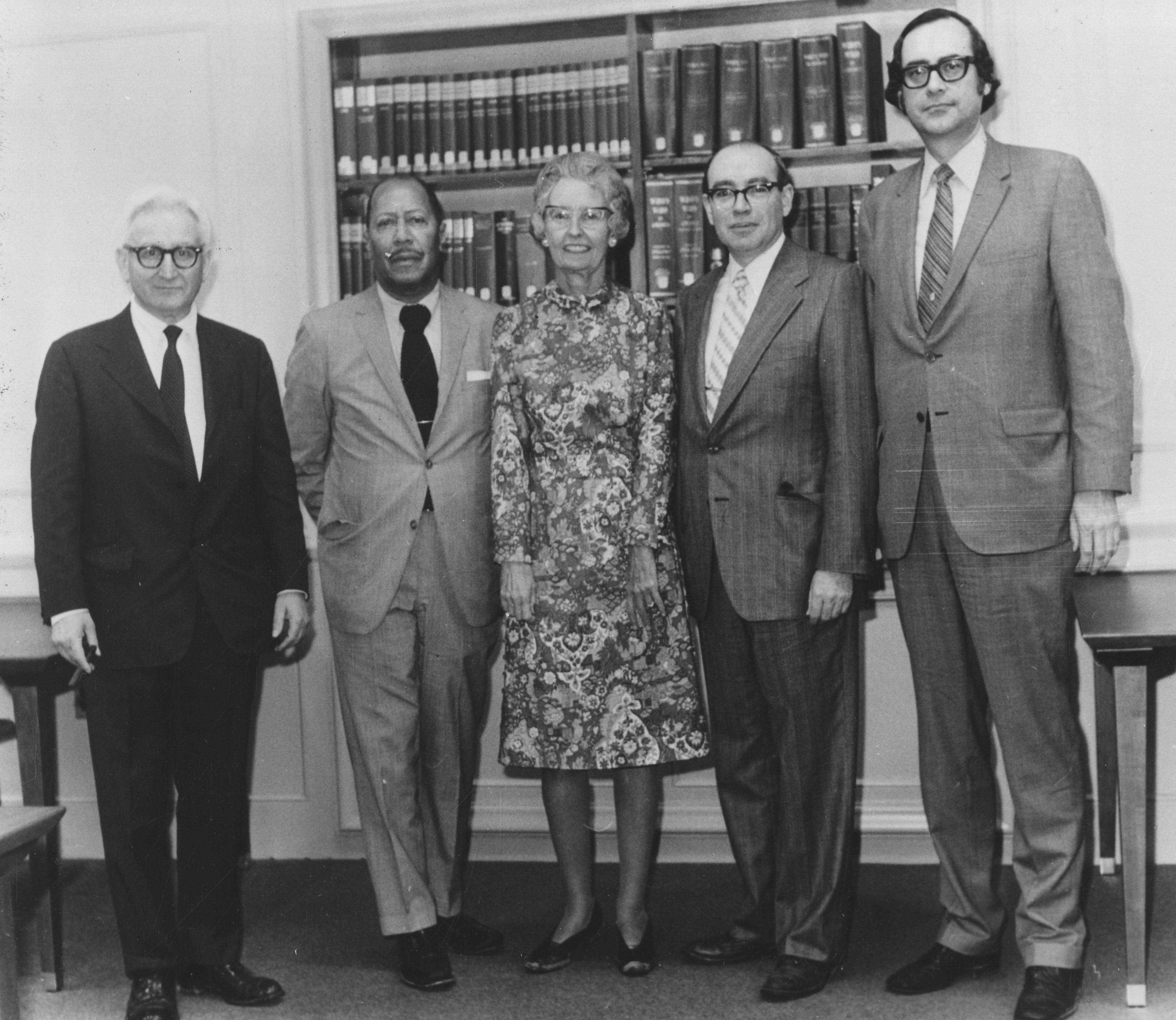 Photograph of the Dedication of Eleanor Roosevelt Wings, Roosevelt Presidential Library