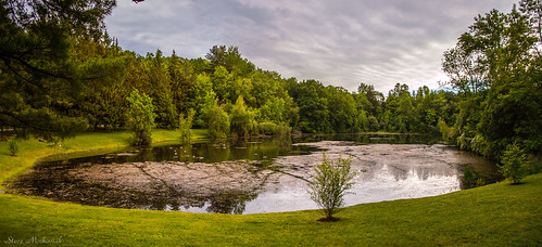 smack53 melodylake palpond westmilford newjersey scenery scenic water lake pond clouds sky reflections trees springtime springlike outdoors outside nikon d100 nikond100 panorama