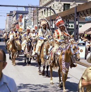 First Nations riders at the Calgary Stampede Parade