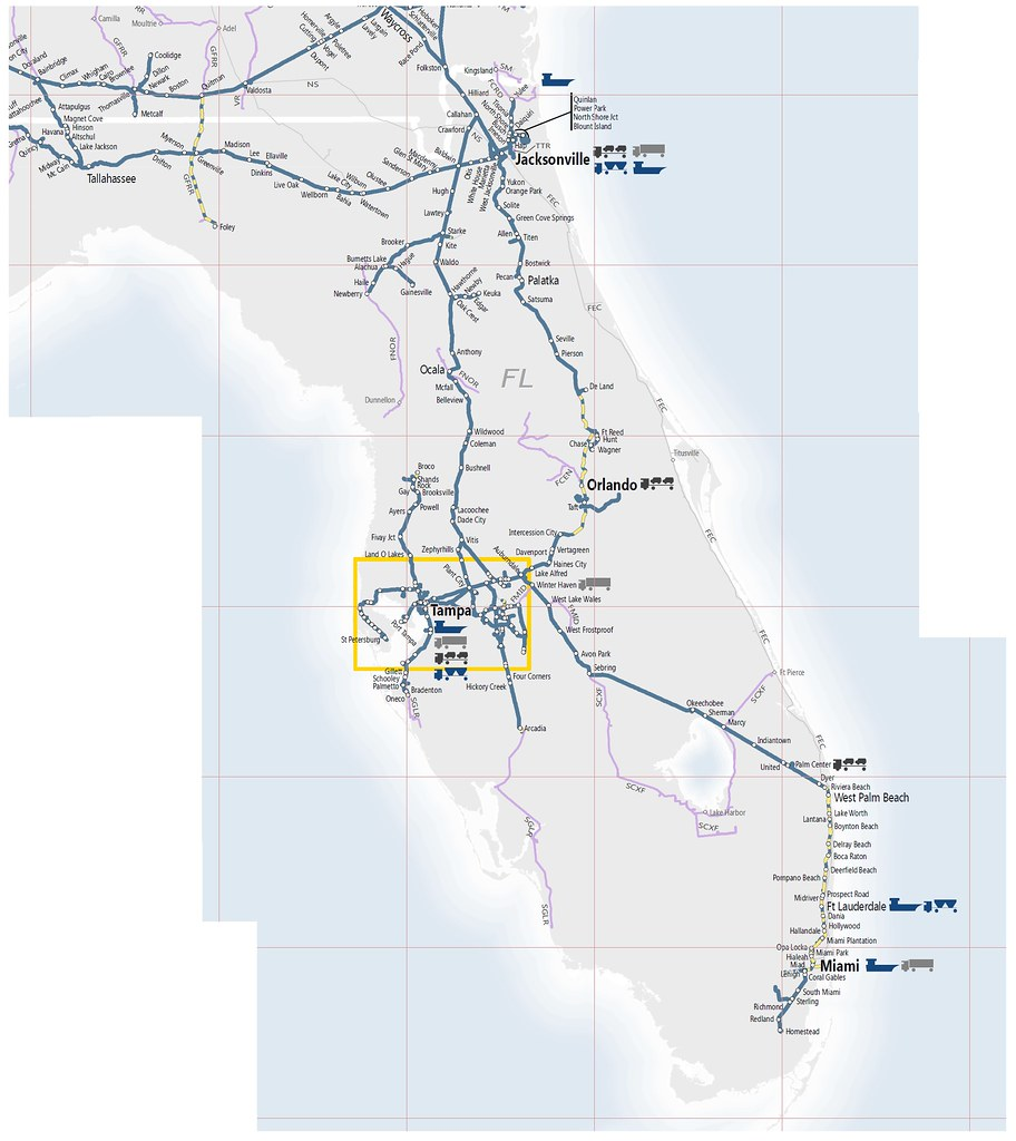 The CSX map of central and southeast Florida in 2015 | Flickr