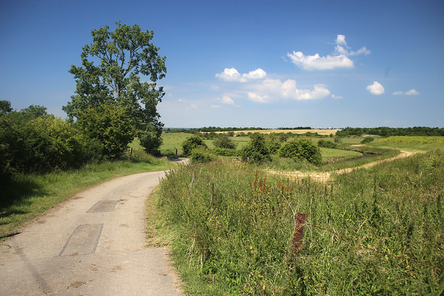 The road inland from Northey Island