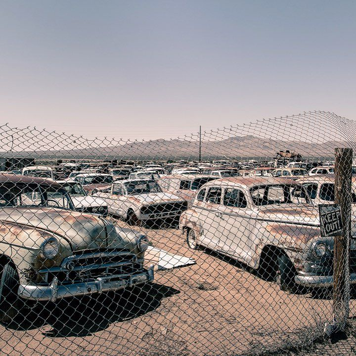 Derelict car park in the US