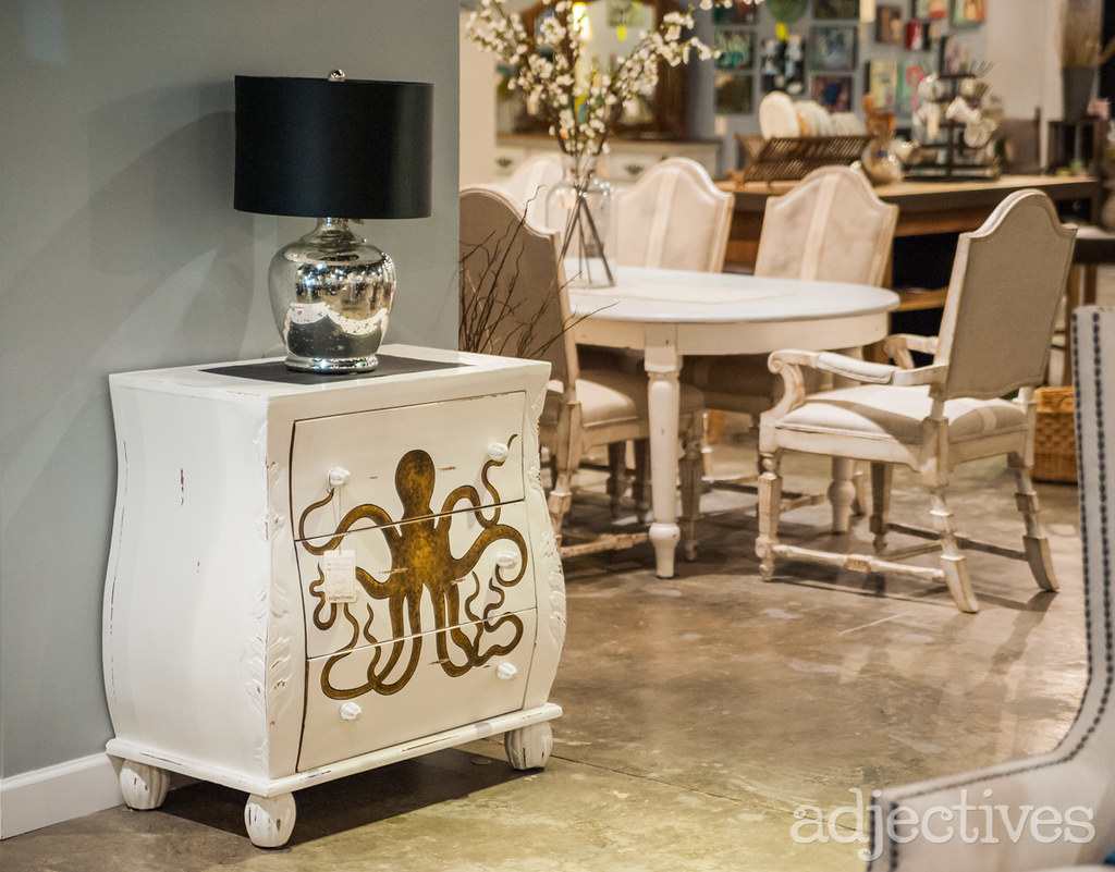 Mahogany, hand painted chest by Adjectives Altamonte-3251.NEF
