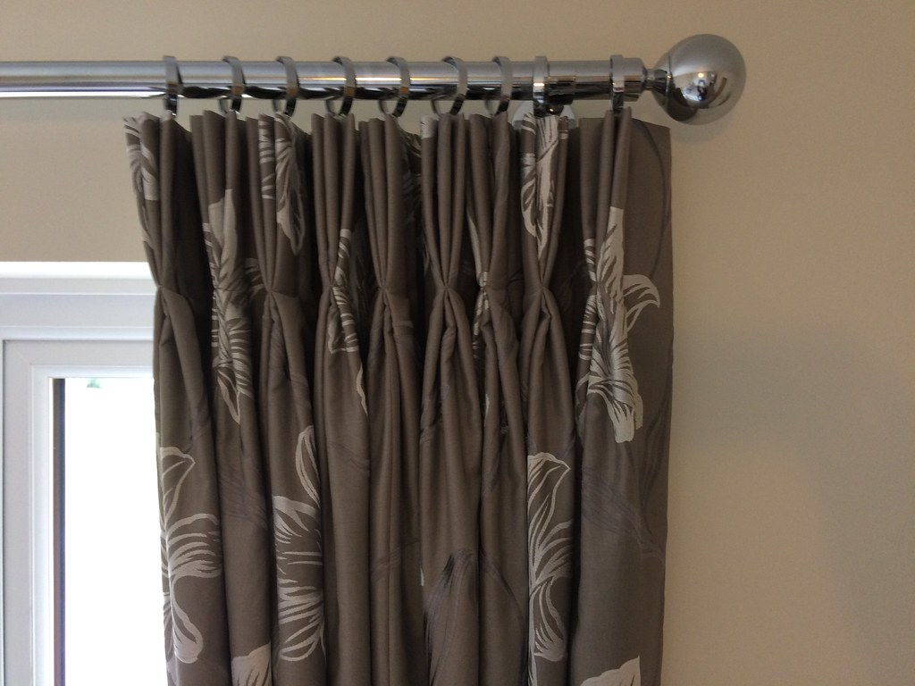 Beautiful interlined curtains in a chrome pole, everything supplied by LJ Curtains