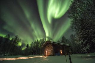 YUCH northern lights   by AlaskaNPS