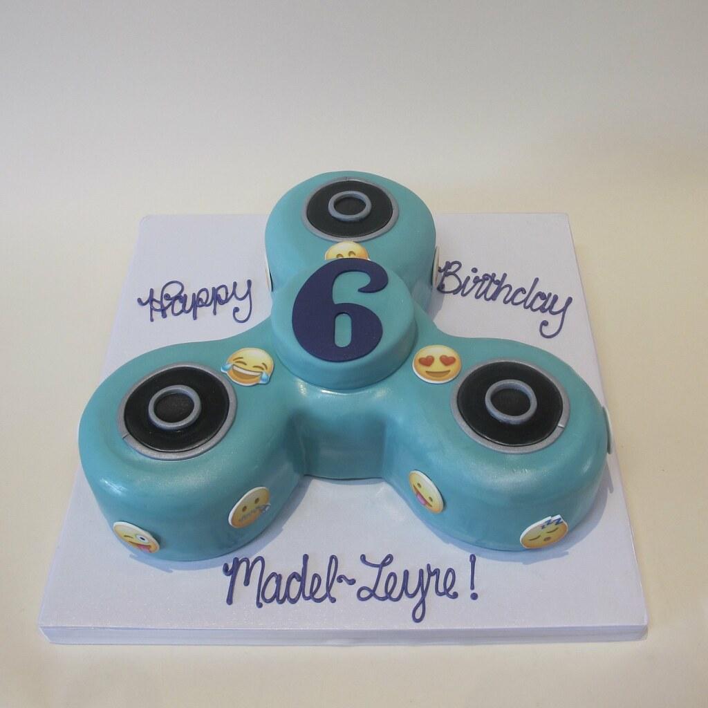 Fidget Spinner Emoji Birthday Shaped Cake 700221 | Creative Cakes ...