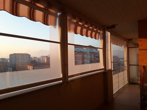 Tenda veranda invernale con finestra in cristal trasparente | by M.F. Tende