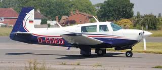 Mooney M20J Model 201 D-EDED Lee on Solent Airfield 2017