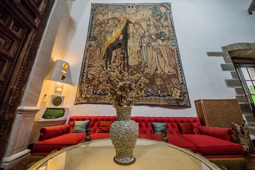 Gala Dalí Castle - living room interior | Púbol, Spain May 3