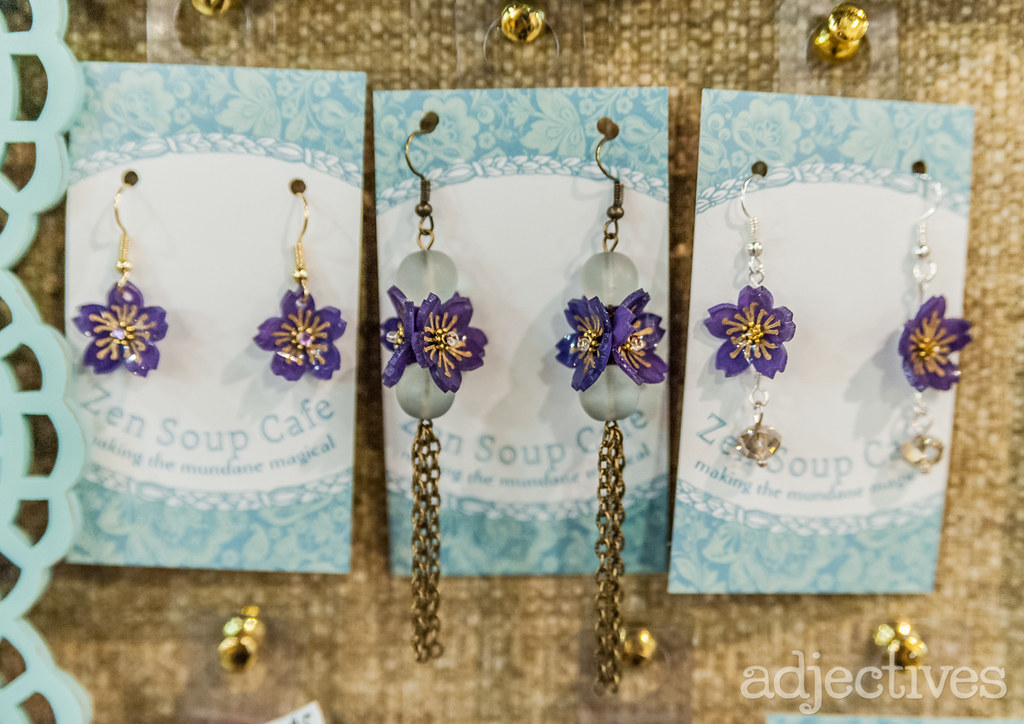 Handmade Earrings by Zen Soup Cafe at Adjectives Altamonte