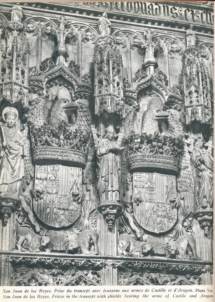 """San Juan de los reyes, águilas de piedra. Publicada en un Libro de Víctor Crastre. Foto de Jean Dieuzaide """"Yan"""""""