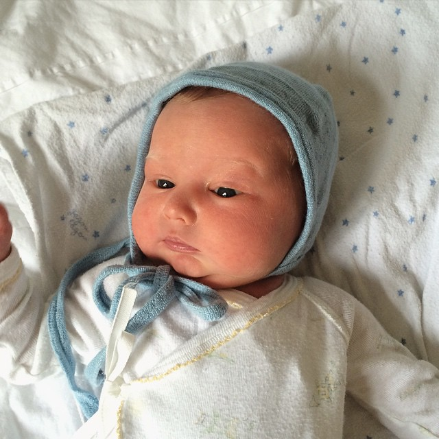 Eyes open! #BabyHugo
