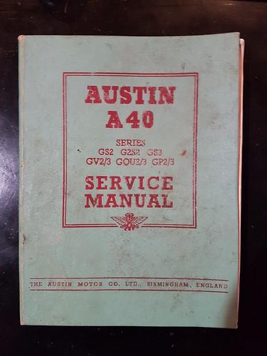 Austin A40 Devon    Dorset Workshop Manual